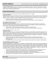 corrections officer resumefree resume templates
