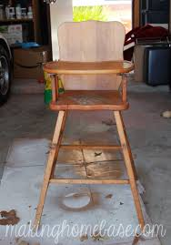 vintage wooden high chair painted with annie sloan chalk paint antique high chairs wooden