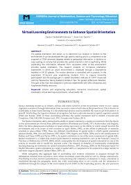 (PDF) Virtual Learning Environments to Enhance Spatial Orientation