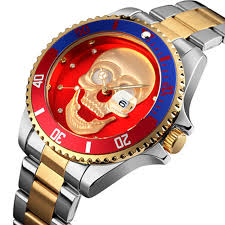 Relogio Masculino Mens Watches New 3D <b>Skull</b> Watch Men's ...