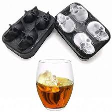 Skull Shaped Whisky Cocktail Ice Cubes Tray <b>Silicone Mold</b> Candy ...