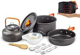 Overmont 1.95 Liter (Pot+ Kettle) Camping Cookware ... - Amazon.com