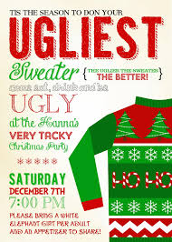 ugly christmas sweater invitation wording happy holidays ugly christmas sweater invitation wording 18