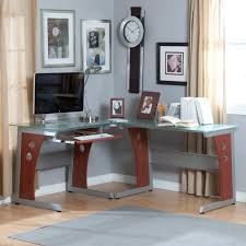 awesome glass corner office desk glass small space and awesome for home office fascinating tempered glass awesome office table top view