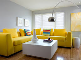 grey living room with yellow sofa bright yellow sofa living