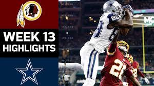 Redskins vs. Cowboys   NFL Week 13 Game Highlights - YouTube