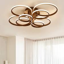 2019 <b>4/6/8/10</b>/<b>Rings Brown White Modern</b> Led Ceiling Lights ...