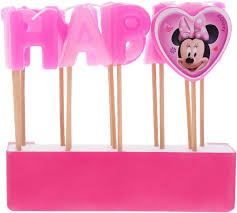 <b>Procos</b> Свечи для торта детские <b>Свечи</b>-<b>буквы</b> Кафе Минни ...