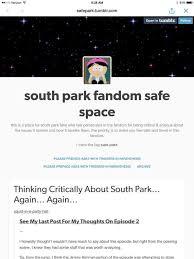 "SJW Southpark fans have created a ""safe space"" to discuss ... via Relatably.com"