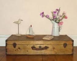 room vintage chest coffee table: vintage shabby chic rustic country wooden chest coffee table trunk