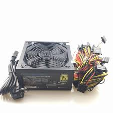 <b>free ship 1600W</b> PSU ATX <b>Power</b> Supply 14cm Fan Set For Eth Rig ...