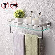KES SUS304 Stainless Steel Bathroom Glass Shelf ... - Amazon.com