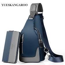 Luxury Brand <b>Men's</b> Messenger <b>Bag</b> Leather <b>Chest</b> Bags <b>Men</b> ...