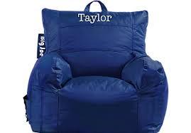 personalized big joe sapphire dorm bean bag chair beanbags sphere chairs furniture dorm