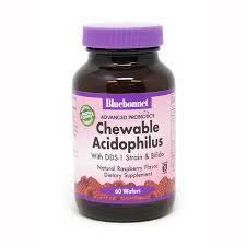 ADVANCED Prebiotics & Probiotics <b>CHEWABLE ACIDOPHILUS</b> 60 ...