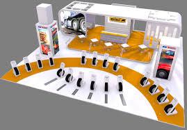 giti tire reveals cv show stand design tyrepress