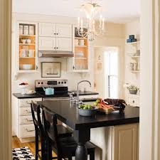 design compact kitchen ideas small layout: traditional style kitchen with smart furniture layout