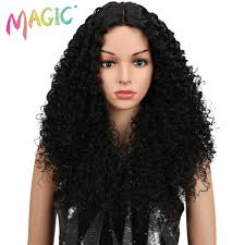 <b>MAGIC Hair</b> 28 Inch Soft Long Kinky Curly Wigs I <b>Lace Front Wig</b> For ...