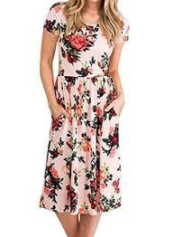 ZESICA <b>Women's Summer Short Sleeve</b> Floral Printed Casual ...