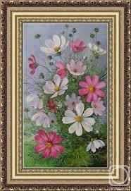 Головина Наталья Николаевна. <b>Космея</b> | Цветочные <b>картины</b> ...