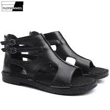 <b>Women</b> Roman Sandals Female <b>Handmade Genuine Leather</b> ...