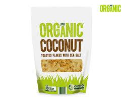 Just <b>Organic Toasted Coconut Flakes</b> with Sea Salt 140g - ALDI ...