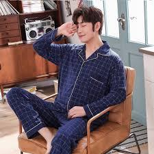 <b>Autumn winter Plus</b> Size 100% cotton pyjamas <b>men</b> pijamas hombre ...