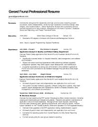 resume  example summary for resume  corezume cosmlf