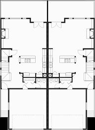 Craftsman Duplex House Plans  Luxury Townhouse Plans  BedroomMain Floor Plan for D  Craftsman duplex house plans  luxury townhouse plans