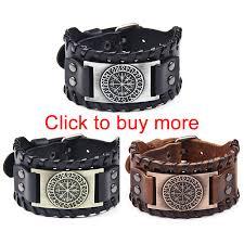 <b>Wide Genuine Leather</b> Cuff Wrap Bracelets Punk Rock <b>Vintage</b> ...