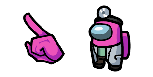 <b>Among Us Pink</b> Character in Scientist Outfit cursor – Custom Cursor
