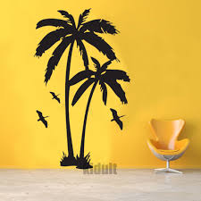 palm tree wall stickers: hot amp home decor wall sticker creative landscape design and plant trees wall stickers vinyl wall