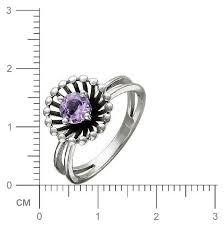Купить Эстет <b>Кольцо с 1 аметистом</b> из серебра 01К357999-1 ...