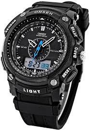 New Ohsen Waterproof Digital LCD Alarm Date ... - Amazon.com
