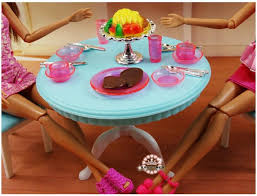 furniture kitchen accessories plastic play set for barbie princess doll house furniture sets girl birthday gift barbie doll house furniture sets