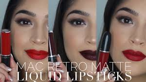 <b>MAC Retro Matte Liquid</b> Lipstick | Lip Swatches + Review - YouTube