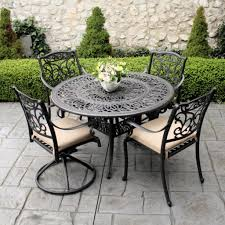 outdoor black wrought iron outdoor furniture
