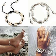 <b>Bohemian</b> Natural <b>Cowrie</b> Beads <b>Shell Anklet</b> Bracelet Handmade ...