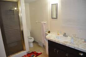 sliding bathroom mirror: before master bath remodel with sliding mirror across a window before by since i