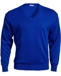 Edwards <b>Royal Blue V-Neck</b> Sweater, 2X, 3X, 4X, 5X