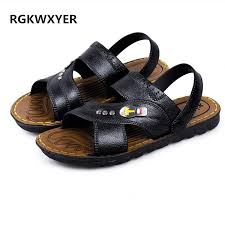 <b>RGKWXYER New</b> Fashion Men'S <b>Sandals</b> Slippers Summer Open ...