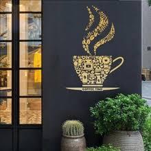Buy <b>coffee</b> shop <b>wall</b> sticker and get <b>free shipping</b> on AliExpress