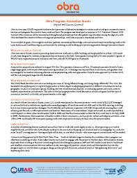 obra international youth foundation obra innovation grants fact sheet
