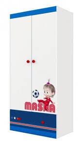 """<b>Шкаф Polini kids</b> Fun 890 """"Маша и Медведь"""" <b>двухсекционный</b> ..."""