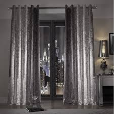 Silver Curtains For Bedroom Kylie Minogue At Home Natala Slate Grey Silver Velvet Lined Ready