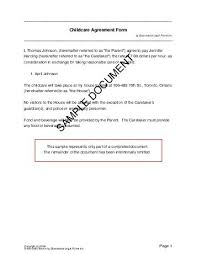 Free Child Care Agreement (Canada) - Legal Templates - Contracts ... Canada Child Care Agreement
