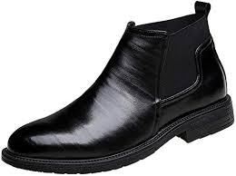 HTHJSCO Men's Oxfords Ankle Shoes Plus <b>Size British Style</b> Slip ...