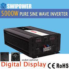 <b>5000W pure sine wave</b> solar power inverter DC 12V 24V 48V to AC ...