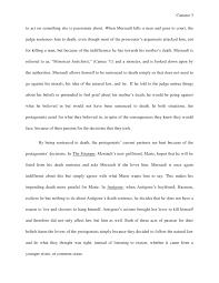 english sl world literature essay  goes against reason