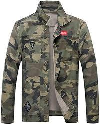 OSTELY Men's Jacket, Turn-Down Collar Camouflage ... - Amazon.com